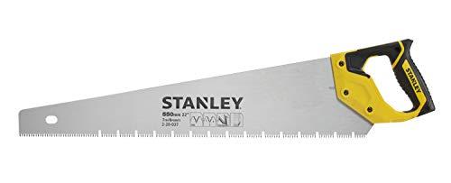 Stanley Jet Cut Gipskartonsäge (550 mm Länge, 7 Zähne/Inch, Bi-Material Griff, 45°/90° Anschlag, Hardpoint) 2-20-037
