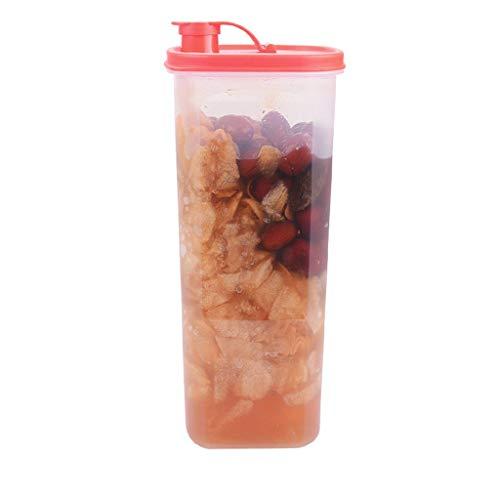 Jarra de Agua Jarra de plástico y tapa Botella de agua Bebida mezclada Hervidor de agua Limonada fría / caliente Jugo de bebida Lata Tetera 2L (amarillo, rojo) Jarras ( Color : Red , Size : 1PACK )