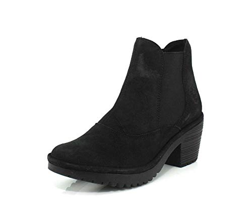 FLY London Womens WOTE078FLY Black Ranch Boot - 38