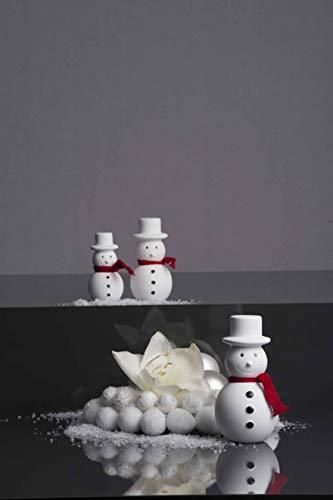 Valentino gala Schneemann Frosty mit rotem Schal, H ca. 10 cm, keramisches Material