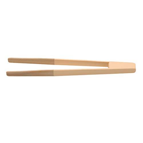 ZHDXW Pinzas de cocina coloridas para barbacoa, para tartas, tostadas, pinzas para carne, ensalada, torta, aperitivos, utensilios de cocina de bambú, color amarillo