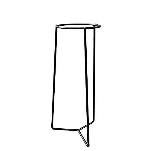Louis Moulin Tripode Porte-Plante intérieur, Gris Martelé, 21,5 x 21,5 x 58 cm