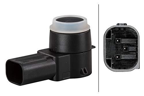 HELLA 6PX 358 141-051 Sensor, Einparkhilfe - gewinkelt - 3-polig - gesteckt - lackierbar