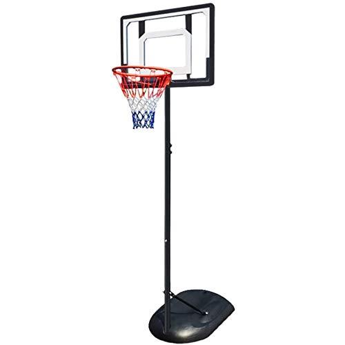 ZAIHW Ajustable Portátil de Soporte del Tablero Trasero del aro de Baloncesto Polo de Acero del Sistema con el Tablero Trasero y Las Ruedas Altura