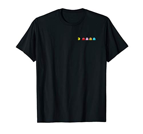 Adults or Kids Pac-Man Characters T-shirt, 7 Colors, Up to 3XL