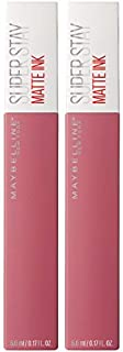 Maybelline SuperStay Matte Ink Liquid Lipstick, Lover, Pack of 2