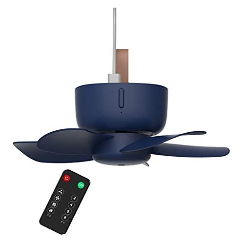sheng Yuan - Ventilador de techo USB con control remoto de 5 V, ventilador de 4 velocidades, apto para cama y camping (color : mando a distancia con USB alimentado)
