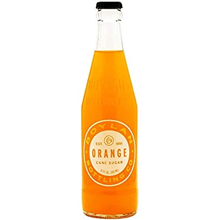 Boylan Bottling Pure Cane Sugar Soda Pop, Orange, 12 oz Glass Bottles (Pack of 12)