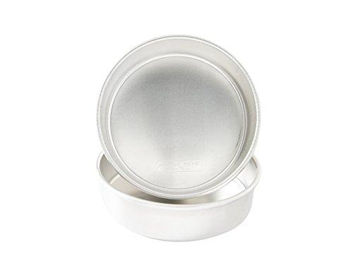 "Nordic Ware 9"" Round Natural Aluminum Cake Pans, 2 Pack, 9"", Non-Stick"
