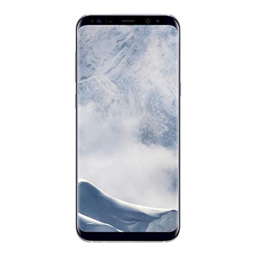 Samsung Galaxy S8+, 64GB, Arctic Silver - Fully Unlocked (Renewed)