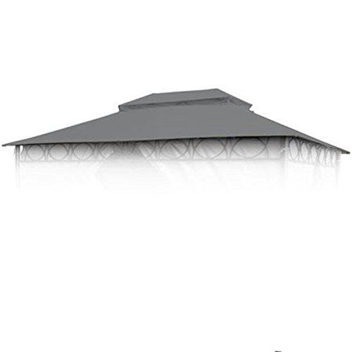 BURI Ersatzdach anthrazit für Cape Town Garten-Pavillon 4x3m Pavillondach Kaminabzug