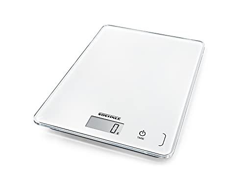 Soehnle Page Compact 300 Bilancia pesa alimenti digitale, Bilancia da cucina da 1 g a 5 kg, Bilancia cucina digitale ed elegante, bianco