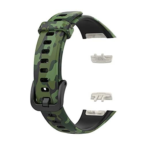 Gintdinpu Correas de Repuesto compatibles con la Correa de Reloj Inteligente 6 / Honor Band 6, Pulsera de Silicona Suave y Transpirable, Accesorio de Reloj para Reloj Inteligente 6 / Honor Band 6