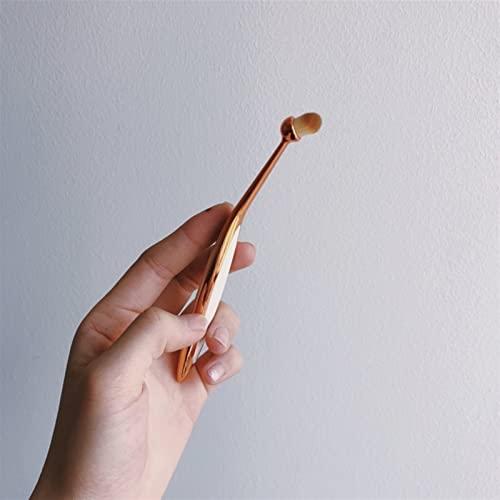 lkpoijuh Pinceaux de Maquillage Ovale Portable Brosse à Dents Ovale Maquillage Found Foundation Tool de Maquillage (Handle Color : 09)