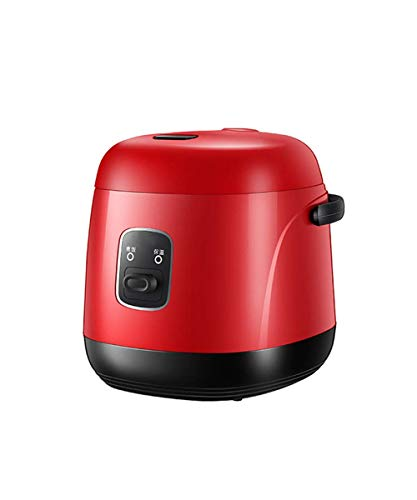 Rice Cooker Mini Multi-Function Single-Use rijstkoker Non-Stick Household Small Koken Machine Porridge Soup 1,2 liter, grijs AQUILA1125 (Color : Red)