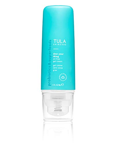 TULA Skin Care Dew Your Thing Moisturizing Gel Cream | Weightless Moisturizer for Face, Lightweight Water-Based Face Cream for Dewy Hydration | 1.7 oz.