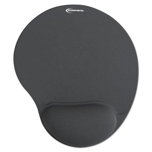 Innovera IVR50449 10-3/8 in. x 8-7/8 in. Nonskid Base Mouse Pad with Gel Wrist Pad - Gray