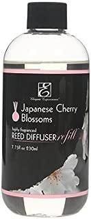 Hosley Premium Japanese Cherry Blossoms Diffuser Refills Oil 230 Milliliter 7.75 Fluid Ounce Ideal GIFT for weddings spa Reiki Meditation settings