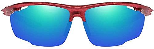 Squash bril Outdoor Sports Anti-glare PC Materiaal Zonnebril Rood/oranjegevoel/Blauw Mannen en vrouwen met The Vind gepolariseerde zonnebril Outdoor bril (Color : Red)