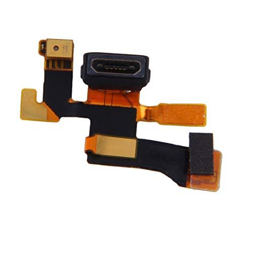 Monlladek Golden Flex Connettore USB Micro Microfono Cavo di Ricarica Porta Flessibile per Nokia Lumia 1020 Parte di Ricambio Durevole e di Alta qualità