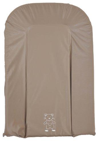 Looping - Materassino per fasciatoio, in PVC, dimensioni 43,5 x 69 cm, colore tortora