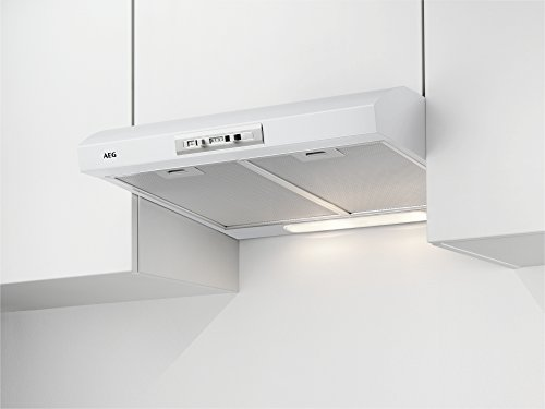 AEG DUB2610W Unterbau-Dunstabzugshaube / Abluft oder Umluft / 60cm / Weiß / max. 71 m³/h / min. 63 – max. 69 dB(A) / D / Schiebeschalter