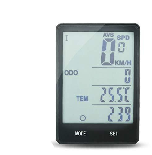 HJTLK Computadora para Bicicleta, velocímetro inalámbrico Cuentakilómetros Ciclismo a Prueba de Lluvia...