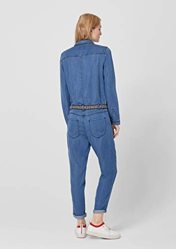 s.Oliver RED Label Damen Denim-Overall, blau jeans-look - 4