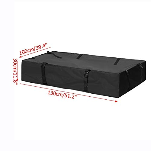 130x100x30cm impermeable universal azotea del coche Canastilla Superior bolsa de carga del portador 600D Oxford tela de guarda equipaje de viaje SUV Van for los coches Automóvil Suave Alfombrilla