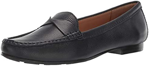 Driver Club USA Womens Genuine Leather Made in Brazil San Diego Loafer Driving Style, navy grainy 9.5 M US