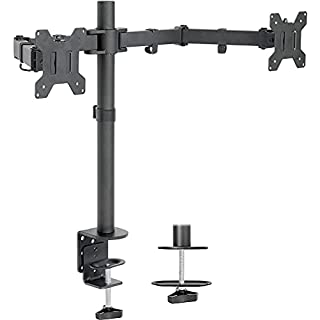 """VIVO Dual LCD LED Monitor Desk Mount Stand Heavy Duty Fully Adjustable, Fits 2 Screens up to 27"""", STAND-V002 (B009S750LA)   Amazon price tracker / tracking, Amazon price history charts, Amazon price watches, Amazon price drop alerts"""