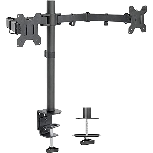 Vivo dual lcd led 13 to 27 inch monitor desk mount stand, heavy duty...