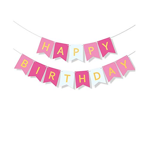 Colourful Happy Birthday Banner, Happy Birthday Bunting Banners,Large Hanging Garland,Happy Birthday Bunting Party Decoration For Indoor and outdoor Birthday Parties