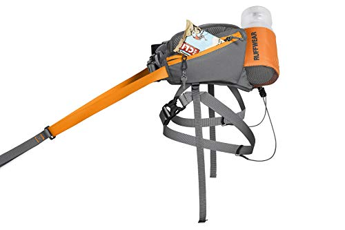 RUFFWEAR - Omnijore System for Dog Joring, Running, and Hiking with Harness, Hipbelt, Towline, and Water Bottle, Orange Poppy, Medium