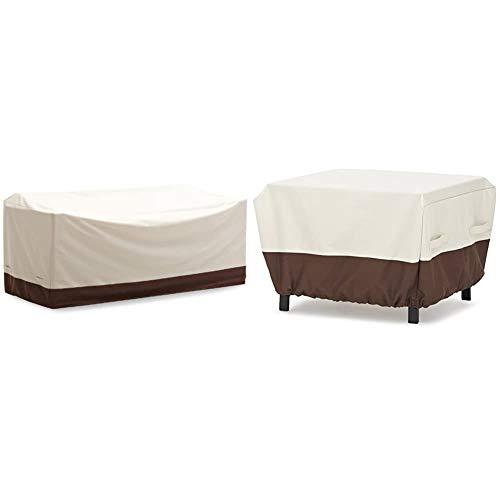 AmazonBasics Griffen 3-Seater Sofa Cover & Ottoman Patio Cover