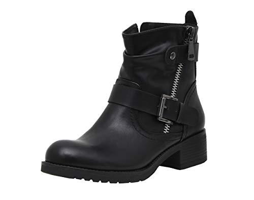 Dunes Women's Max Moto Boot, Black, 8.5