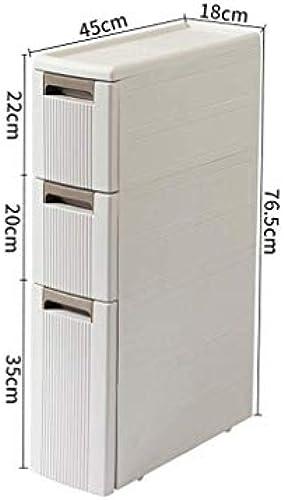 CCF Regal Weiß Multiple Größe Auswahl Landing Badezimmer Aufbewahrungsbox Sandwich Storage WC Toilette Side Cabinet Side Cabinet CCFSF (Größe   45  18  76.5CM)