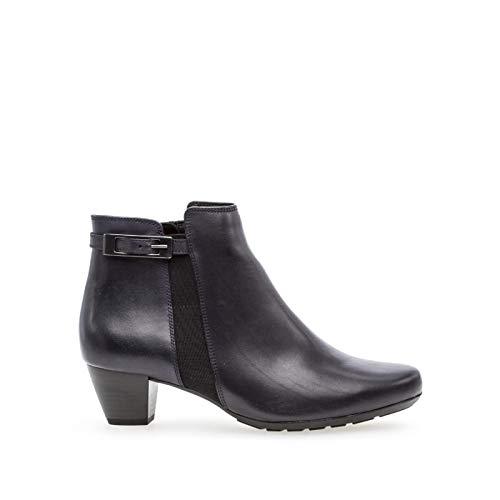 Gabor dames laarzen zwarte laarzen van glad leer 92-826-57 zwart 532727