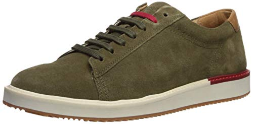 Hush Puppies Heath Sneaker Oxford, Olive Suede, 12 W US