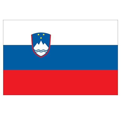 Supstick Set van 8 Vlag Stickers Sloveense Natie 3 x 2 cm