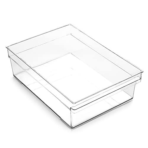 BINO | Plastic Storage Bins, X-Large | THE HANDLER COLLECTION | Multi-Use Organizer Bins | Built-In Handle | BPA-Free | Pantry Organization | Home Organization | Fridge Organizer | Freezer Organizer