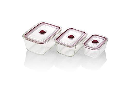 Jata Hogar Set de recipientes herméticos de Cristal, Pequeño