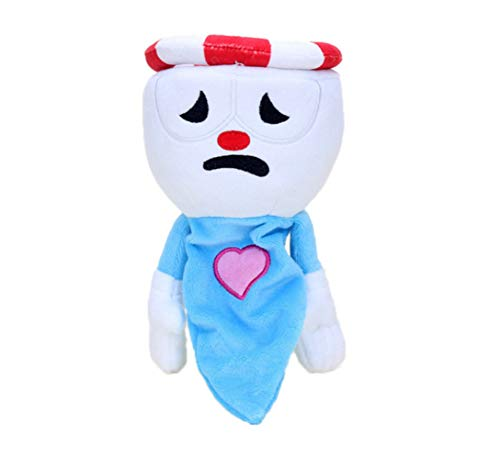 Hanyyj Juguetes De Peluche Juego Cuphead Y Mugman Mecup and Brocup Evil Boss Legendary Chalice Doll Soft Stuffed Doll Regalos para Niños 24Cm