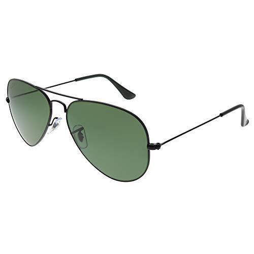 Ray Ban Aviator Large Metal Matte Black / Polarized Green - 58