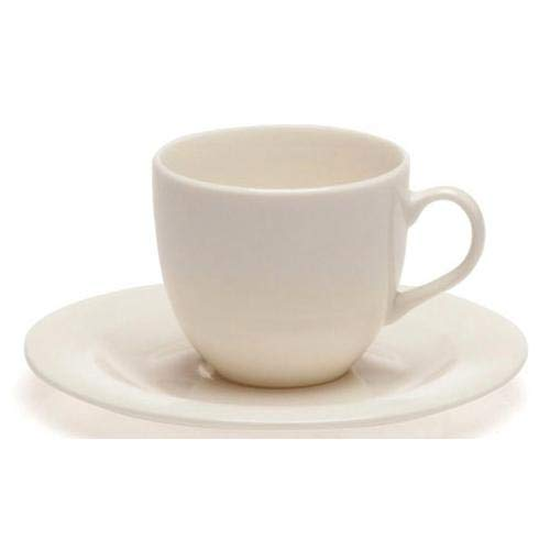 Tognana Set Tazzina Caffè con Piattino 6 Pezzi Perla Bianco