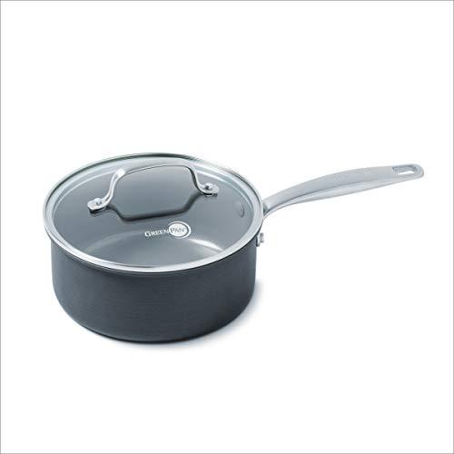 GreenPan Chatham Ceramic Non-Stick Covered Saucepan, 3 quart, Grey - CC000116-001