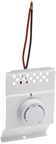 Cadet Single Pole Built-In Thermostat Kit for Electric Baseboard Heaters (Model: BTF1W), 22 Amp, White