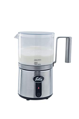 Solis melkopschuimer met 5 functies: voor maximaal 350 ml melk, glas/roestvrij staal, 600 watt, crèmalat