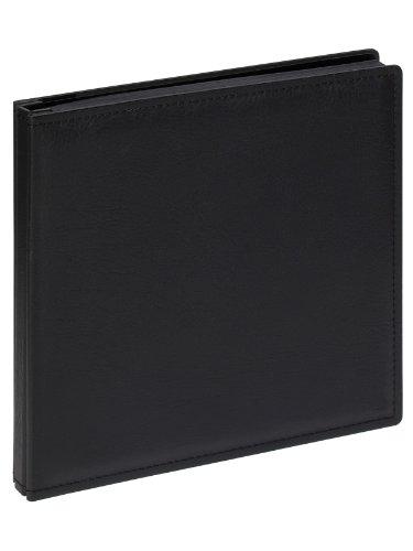 Walther JU-312 Premium, kunstleren omslag zonder pergamijn, 80 zwarte bladzijden 37 x 37 cm zwart