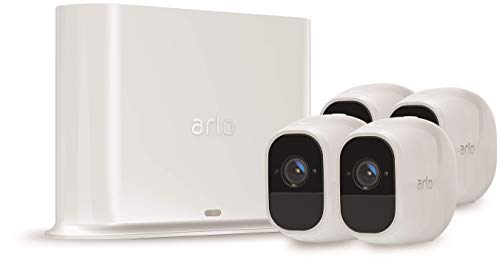 Arlo Pro 2 VMS4430P Wireless Home Security Camera System with Siren, Rechargeable, Night Vision, Indoor/Outdoor, 1080p, 2-Way Audio, Wall Mount, Cloud Storage Included, 4 Camera Kit